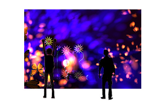 virtual flower = motion capture and installation